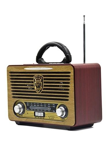 Platoon PL-4153 Bluetooth Speaker Fm/Sd/Usb Kahve